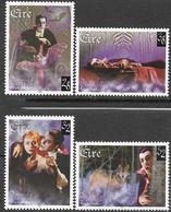 Ireland   1997  Sc#1086-9   Dracula Set  MNH  2016 Scott Value $5.65 - Unused Stamps