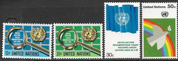 UN NY   1976   Sc#270-1, 278-9   MNH   2016 Scott Value $2.65   Face $1.24 - Ungebraucht