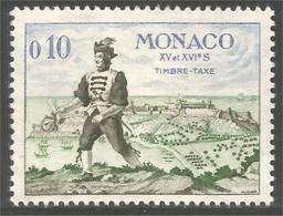630 Monaco Taxe Postage Due Messenger Postier Postman Facteur Mailman MH * Neuf (MON-136c) - Post