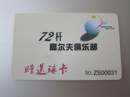 Seventy-two Golf Club Promotion Card - Unclassified