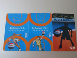 Walonos  Basketball Club Promotion Cards,  Three Different - Unclassified