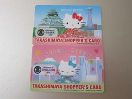 Takashimaya Shopper's Card, Hello Kitty Shinjuku And Osaka, Two Different Cards - Unclassified