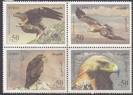 Syria 2012 Birds - Golden Eagle Stamps 4v MNH - Syrië