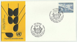 UNS30401 UN Nations Unies Geneve 1983 FDC Programme Alimentaire Mondial / World Food Programme - FDC