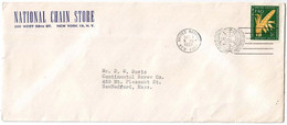 UNS30101 UN United Nations NY 1956 Foods FDC On P.T.P.O. Cover National Chain Store - FDC