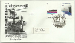UNS30105 UN United Nations NY 1983 FDC Safety At Sea - FDC
