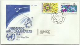 UNS30106 UN United Nations NY 1983 FDC World Communication Year - FDC