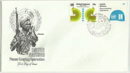 UNS30109 UN United Nations NY 1980 FDC Peace Keeping Operations - FDC