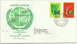 UNS30110 UN United Nations NY 1982 FDC Conservation And Protection Of Nature - FDC