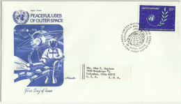 UNS30111 UN United Nations NY 1982 FDC Exploration And Peaceful Uses Of Outer Space - FDC
