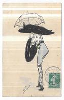 Illustrateur Plum Femme Avec Chapeau Et Parapluie Edition C.H. Paris , Série 3 - Other Illustrators