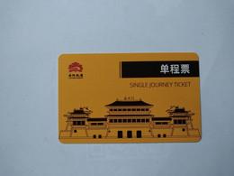 China Transport Cards, Ruins Of Ancient City Wall, Luoyang TV Tower, Train, Metro Card, Luoyang City, (1pcs) - Non Classificati