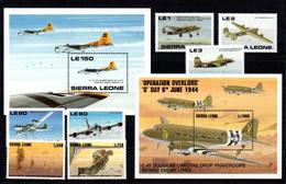 T1-16 Sierra Leone N° 1179 à 1183 + 1814 + 1815 + BF 123A + BF 244 ** A Saisir !!!  Avions - Sierra Leone (1961-...)