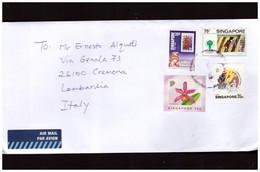 Singapore- Lettera Con Interessante Affrancatura - Singapour (1959-...)