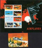 T1-16 Sierra Leone N° 2619 à 2620 + BF 400 ** A Saisir !!!  Avions - Sierra Leone (1961-...)