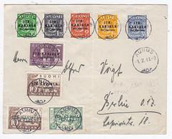 Finnland/Karelien Nr.1-7+Zusatz Auf Brief Nach Berlin FDC - Covers & Documents