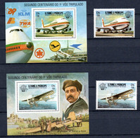T1-17 Sao Tome Et Principe N° 746 + 747 + BF  ** A Saisir !!!  Avions - Sao Tome And Principe