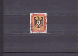 RéUNION à BERLIN DU CONSEIL FéDéRAL/OBLITéRé/25 P ROUGE, OCRE ET NOIR/ N° 122 YVERT ET TELLIER 1956 - Oblitérés