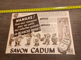 1940 PATI Publicité Savon Cadum Collection De Blanche-Neige Et Les 7 Nains - Unclassified