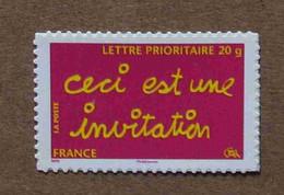 """A1-J5 :Timbres De Message """"Ceci Est Une Invitation"""" & """"Un Grand Merci"""" (autoadhésifs / Autocollants) - Luchtpost"""