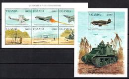 T1-18 Ouganda N° 1664 à 1669 + BF 289 ** A Saisir !!!  Avions - Uganda (1962-...)