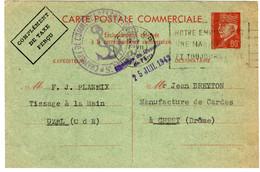 46932 - Entier  PETAIN 80 C, Rouge - 1921-1960: Periodo Moderno