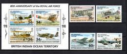 T1-18 Territoire Britannique De L'Océan Indien N° 207 à 210 + BF 11 ** A Saisir !!!  Avions - British Indian Ocean Territory (BIOT)