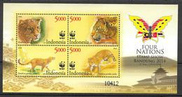 Indonesia 2014 MiNr. 3130 - 3133 (Block 308) Indonesien ANIMALS BIG CATS Javan Leopard WWF 1bl MNH** 8,00 € - Nuovi