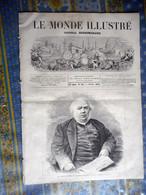 LE MONDE ILLUSTRE 18/11/1871 JULES JANIN PARIS GARDE REPUBLICAINE EPEE ALSACE STRASBOURG BRASSERIE METZ GRENADIERS COMBA - 1850 - 1899