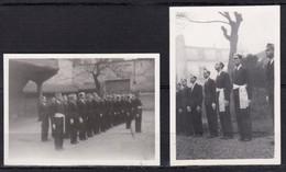 Lot De  8 Mini Photos 1942-1943 MILITARIA Avec Le Généal SALAN Représentant PETAIN Animées Scan Recto-verso Dim 88x62mm - 1961-....