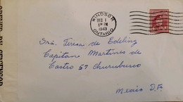 A) 1943, CANADA, LETTER WITH CENSORED, GEORGE V, FROM WINDSOR TO MEXICO, SPREAD BY EFFORT IN WAR, WITH CANCELLATION SEAL - Cartas