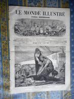 LE MONDE ILLUSTRE 25/11/1871 EDOUARD TOULOUZE SCULPTURE MARQUESTE CORSE BRESIL ESCLAVAGE PARIS TUILERIES CAMP FLEURY - 1850 - 1899