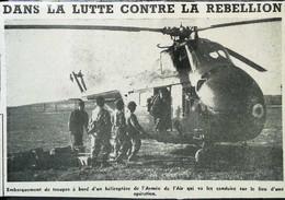 ► AVIATION (1958) Hélicoptère Armée De L'Air (Guerre D'Algérie) - Coupure De Presse (Encart Photo) - Historical Documents