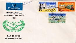 Nigeria 1965, FDC Train, Complete Set ICY - Nigeria (1961-...)