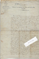 1924 / Acte Mariage Lille 59 / Joseph Meilhan De Marciac Gers, Artiste Vétérinaire Aux Dragons De La Loire (Cavalerie) - Historical Documents