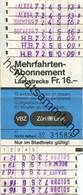 Schweiz - Zürich - Verkehrsbetriebe Zürich - Mehrfahrtenabonnement - VBZ Züri-Linie - Fahrkarte Fr. 16.- 1987 - Europe