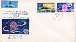 Nigeria 1967, FDC Complete Set Meteorological Day - Nigeria (1961-...)