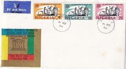 Nigeria 1966, FDC Complete Set Unesco - Nigeria (1961-...)