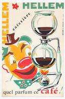 Buvard 13.5 X 20.8 Cafetière HELLEM  Clown Illustrateur P.R.R. - Coffee & Tea