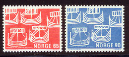 Norvege 1969 Yvert 534 / 535 ** TB Bord De Feuille - Unused Stamps