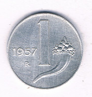 1 LIRE 1957  R   ITALIE /4016/ - 1 Lira
