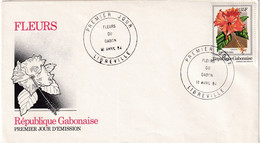 Gabon 1984, FDC Flower - Gabon