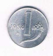 1 LIRE 1954  R   ITALIE /4017/ - 1 Lira