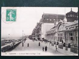 14, Cabourg ,le Grand Hôtel Et La Plage ,vue Générale En 1913 - Cabourg