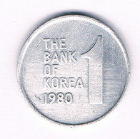 1 WON 1980 ZUID KOREA /4022/ - Coreal Del Sur