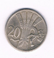 20 HALLER  1921  TSJECHOSLOWAKIJE /4024/ - Tschechoslowakei