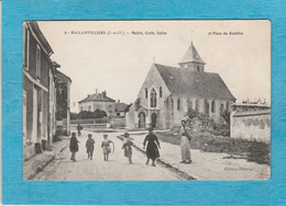 Ballainvilliers ( Essonne ). - Mairie, École, Église Et Place Du Rouillon. - Other Municipalities