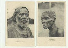 CAMEROUN - 2 CP - Vieille Esclave Et Vieil Esclave De Foumban Gros Plan Bon état - Cameroun