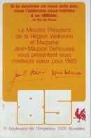 Carte De Voeux METAL (63 Gr) Du Ministre Dehousse 1985 - Anno Nuovo