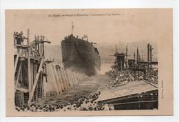 - CPA LA SEYNE (83) - Forges Et Chantiers - Lancement D'un Navire - Edition Pons - - La Seyne-sur-Mer